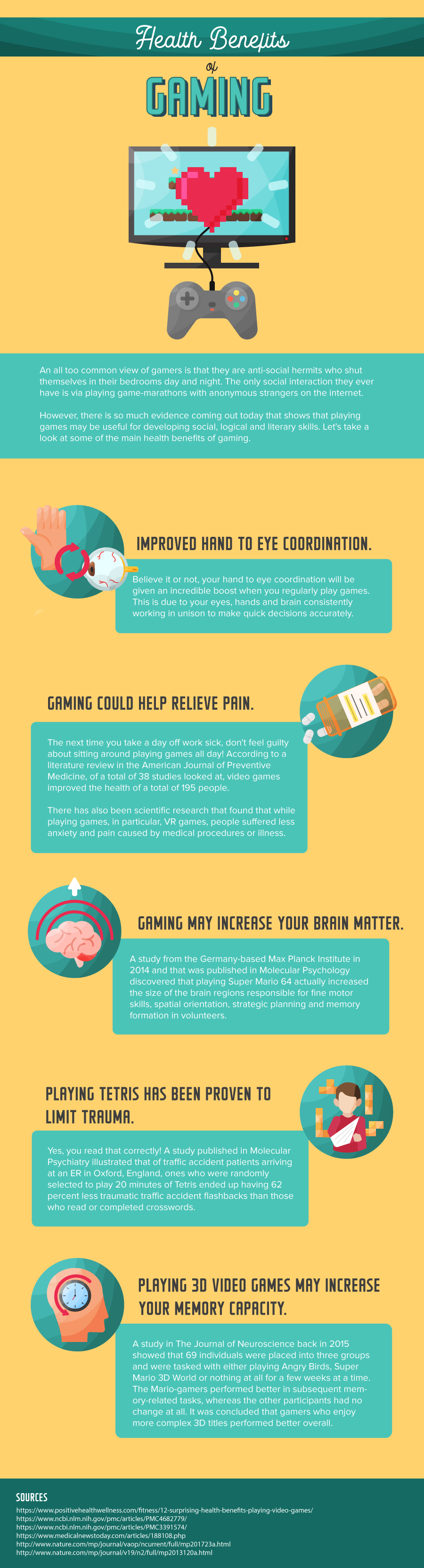 HEALTH BENEFITS OF GAMING - AN INFOGRAPHIC